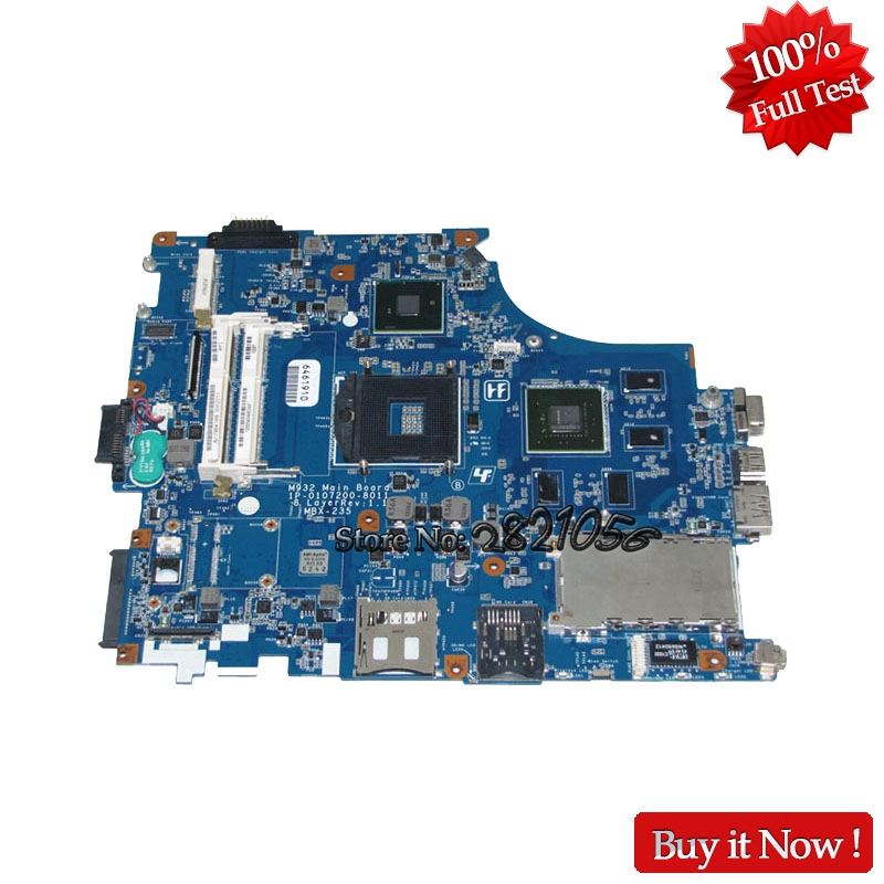 Nokotion 1P-0107200-8011 A1796418B for sony VAIO VPCF M932 MBX-235 laptop motherboard GT425M Tested motherboard for sony mbx 209 m922 mb mp 1p 0104j00 8012 100