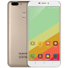 OUKITEL U20 Plus 4G Phablet 5.5 inch Mobile Phone IPS Screen Android 6.0 MTK6737T Quad Core 1.5GHz 2GB+16GB 5MP+13MP Cameras