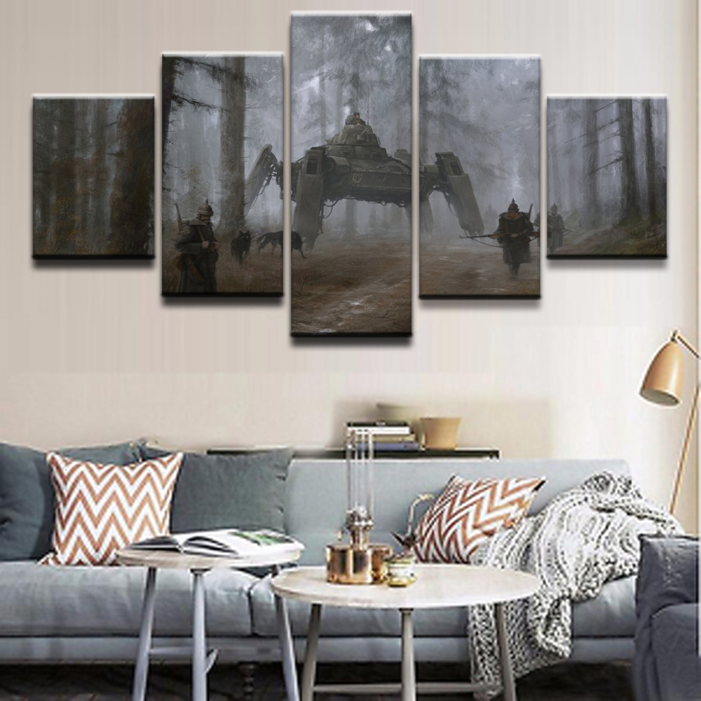 Modern Home Wall Art Decorative Unique Canvas Pictures ...