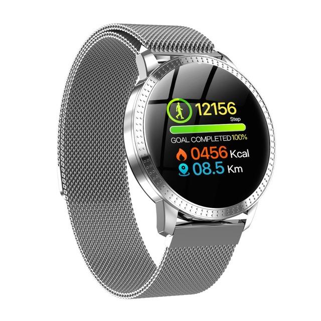 SENBONO  Round Screen Fashion Smart watch Clock Waterproof Men Fitness Activity Tracker Bluetooth Women  Smartwatch pk cf58