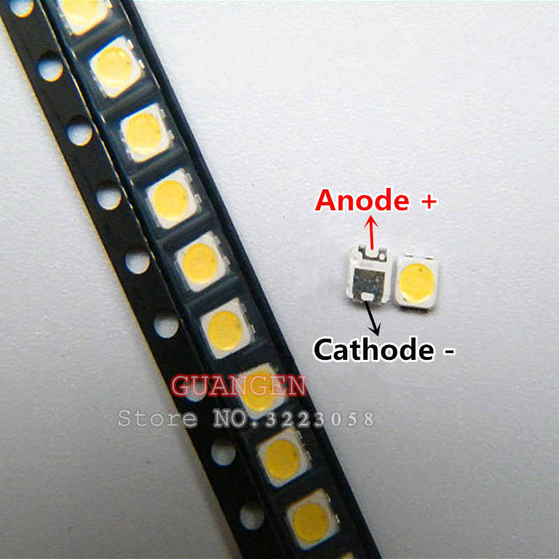 50pcs 2828 Led Backlight Tt321a 1.5w-3w With Zener 3v 3228 2828 Cool White Lcd Backlight For Tv Tv Application Sm Diodes Active Components