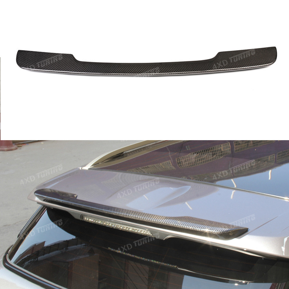 For Land Rover Range Rover Evoque Carbon Fiber Rear Roof Spoiler Rear Trunk Wing Rear Bumper boot Trim Cover 2012 2013 2014 2015 new abs chrome rear bumper cover trim for land rover range rover evoque 11 15