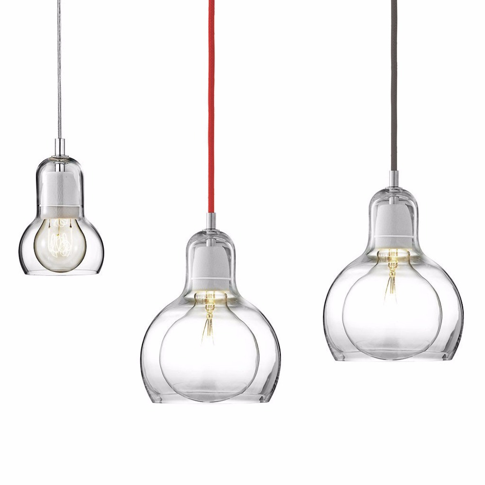 Modern Pendant Lights Amber/Clear/Grey Glass Lampshade Pendant Lamps E27 110V 220V for Dinning Room Home Decoration Lighting modern round glass pendant light grey color clear color amber color pendant lamps with bulbs 110v 220v led pendant lights