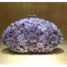 Women New European and American Blue Gold Silver diamond Luxury design evening bag women party handbag banquet dress clutch bag