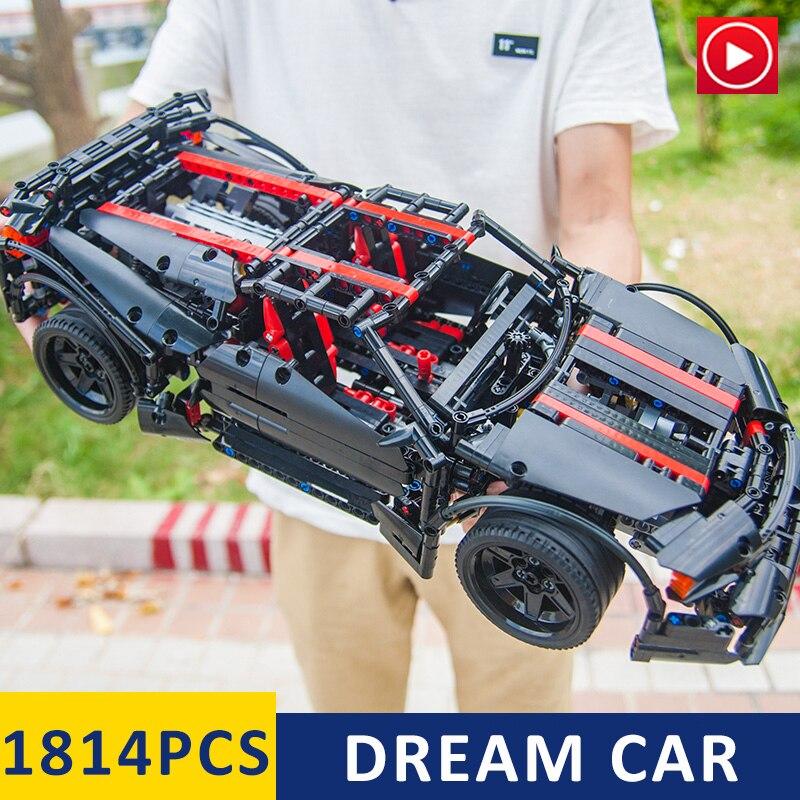 En Stock LepinS 20001 07003 20086 technic série voiture de course F1 formule Bugatti voitures Kits de construction blocs briques enfants jouet cadeau