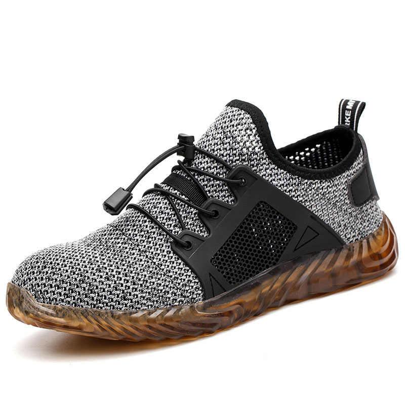 Güvenlik ayakkabıları yaz nefes Yıkılmaz Ryder Ayakkabı Erkekler Ve Kadınlar Çelik Ayak Hava Güvenliği Bot Delinme dayanıklı Çalışma Ayakkabı
