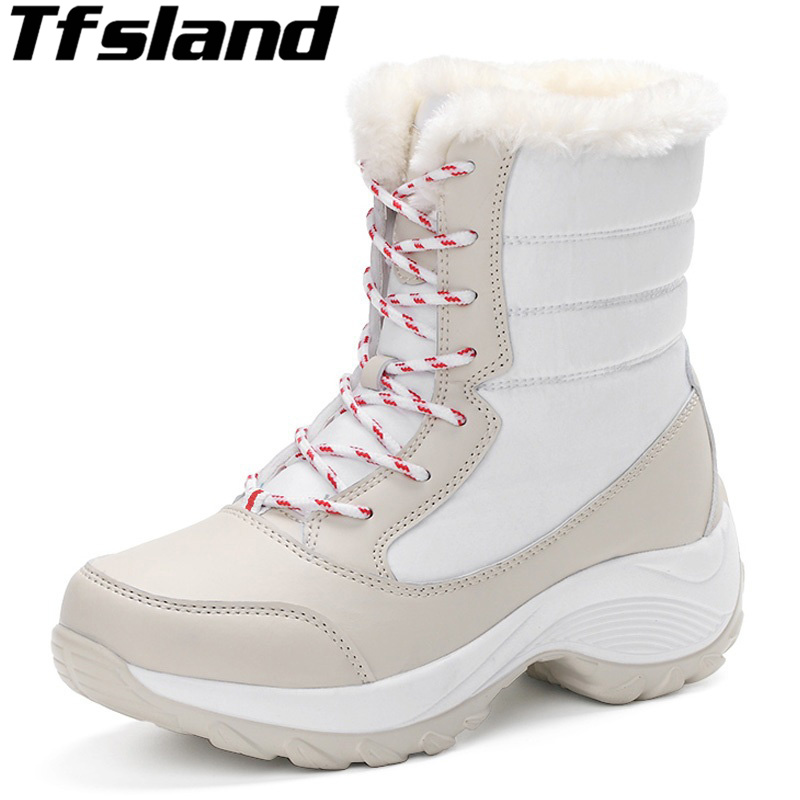New Women Winter Faux Suede Leather Warm Plush Ankle Boots Autumn Women Shoes Fur Snow Boots Comfortable Running Shoes Sneakers