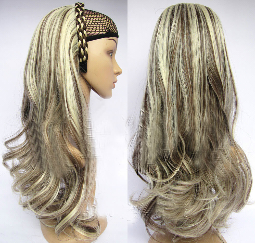Free shipping >>> 3/4 Half Wig Hair Fall Wavy Synthetic ...