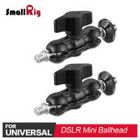 SmallRig 2PCS DSLR Camera Rig Light Weight Mini Ballhead Arm with 1/4 thread For Video Monitor ,LED Light Support 2158