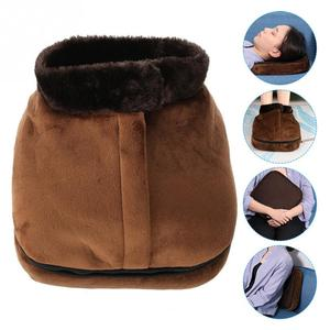 Image 2 - 2 IN 1 Electric Heated Foot Warmer Cosy Unisex Velvet Feet Heated Foot Warmer Massager Big Slipper Foot Heat Warm Massage Shoes