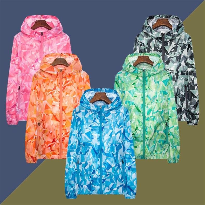 Couple Windbreaker Jackets Women Men Spring Summer Unisex Coats Women Plus Size Casual Sunscreen Clothing Ultrathin Rainproof 11