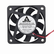 2 Pieces LOT Gdstime 60mm x 15mm 6cm 12V CPU Heat Sink Computer PC Cooler Fan Cooling Exhaust Ball Pins