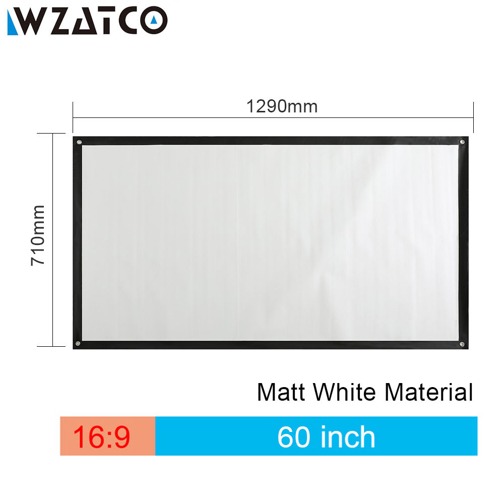 WZATCO HD Projector Screen 60