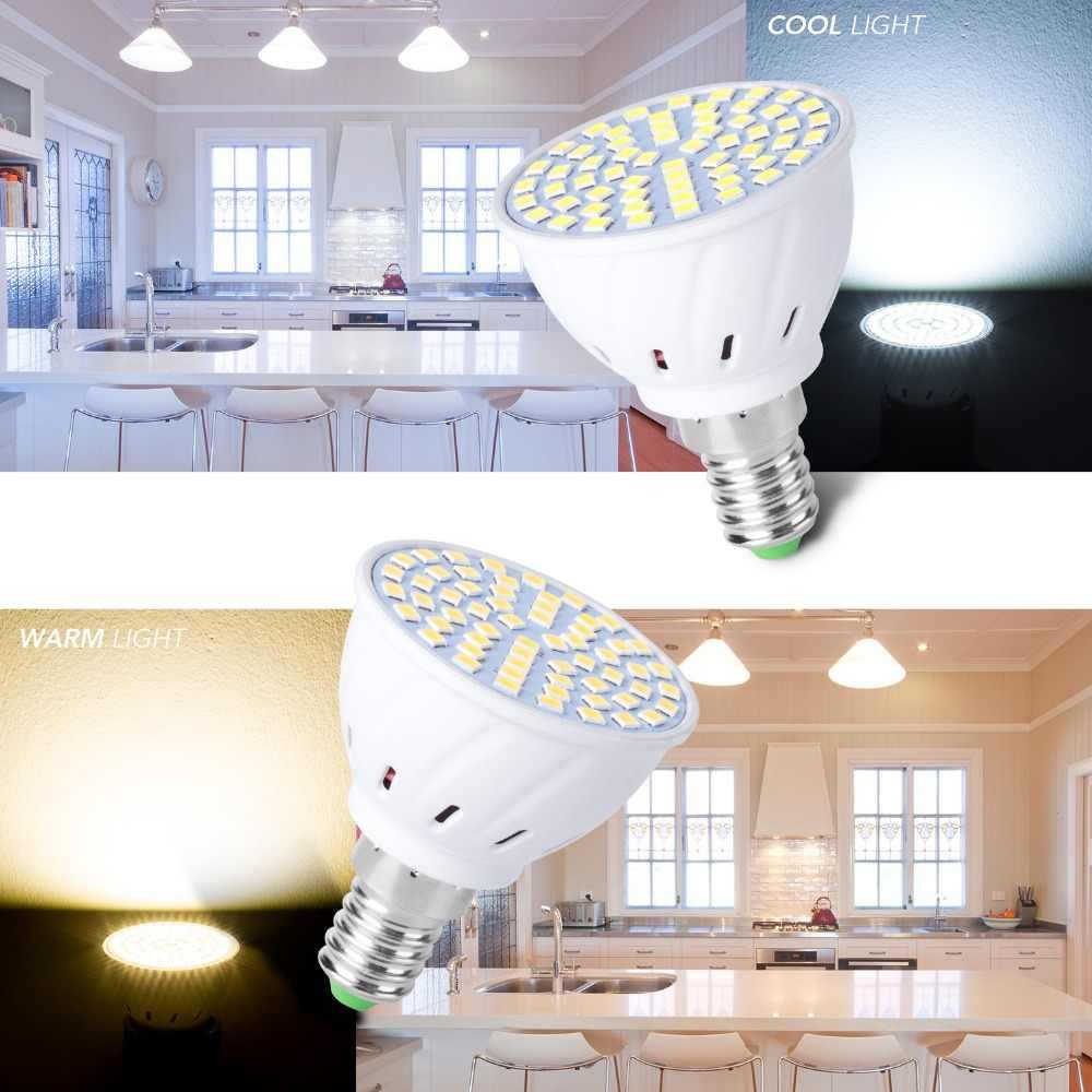 GU10 LED GU5.3 Spotlight หลอดไฟ MR16 โคมไฟ E27 220V lampadas LED E14 Bombillas Gu 10 จุด 48 60 80 LEDs B22 หลอดไฟ 2835