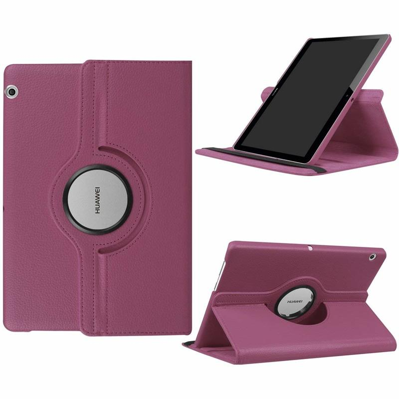 360 Rotating PU Leather Cover Case For Huawei Mediapad T3 10 9.6