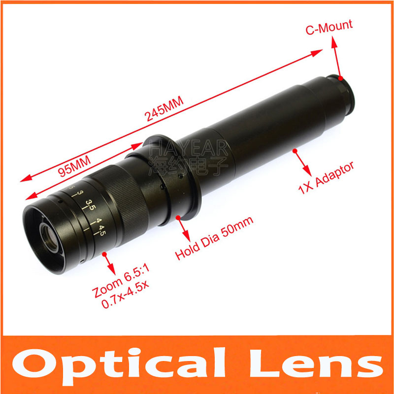 Industrial XDS-10A Optical lens times digital microscope lens industrial CCD camera lens 1X optical Objective lens 25mm
