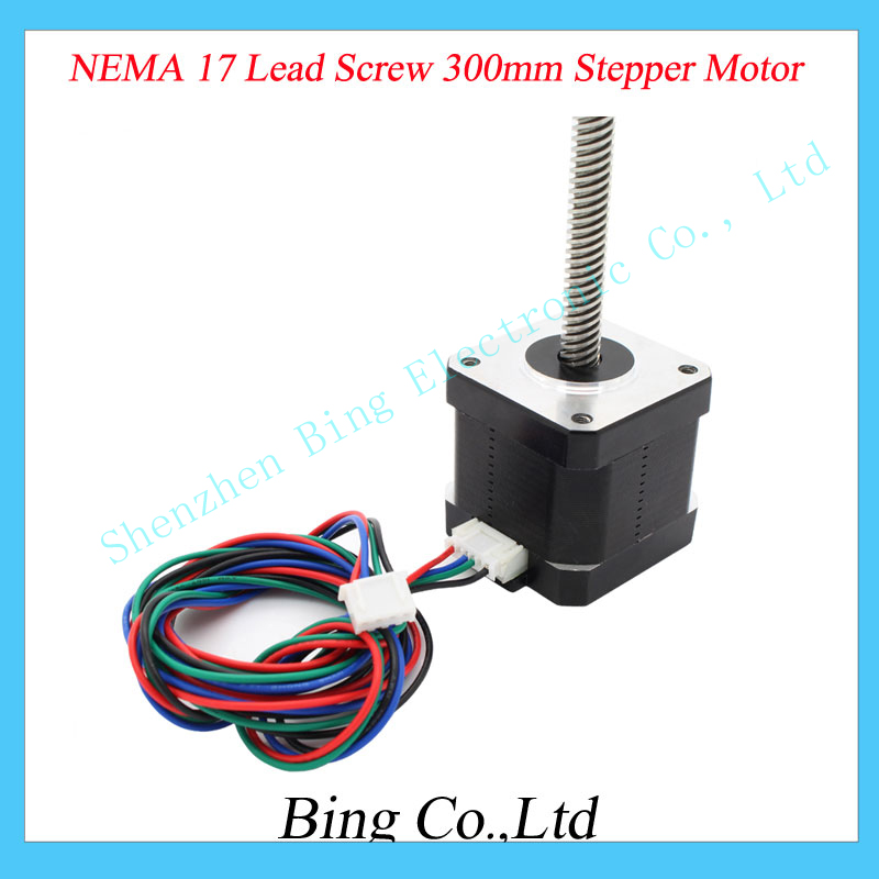 3D Printer NEMA 17 Lead Screw 300mm Stepper Motor Z Axis 3D Printer KIT Step Motor Free shipping