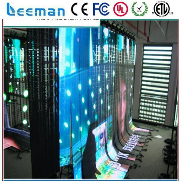 US $168 92 |Leeman Full color SMD Soft mesh LED video screen,soft mesh led  display Flexible LED Curtain /soft video background led curtain-in LED
