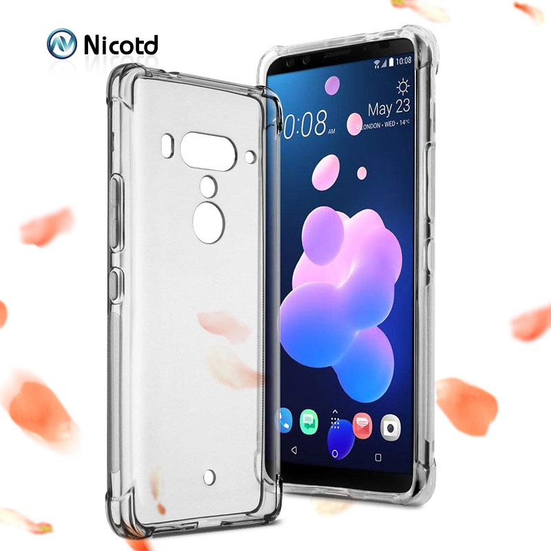 Air Cushion Shockproof Case For HTC U12 Plus Life U11 Eyes Desire 12s Silicone Phone Back Cover For HTC U Play U Ultra X10 Cases