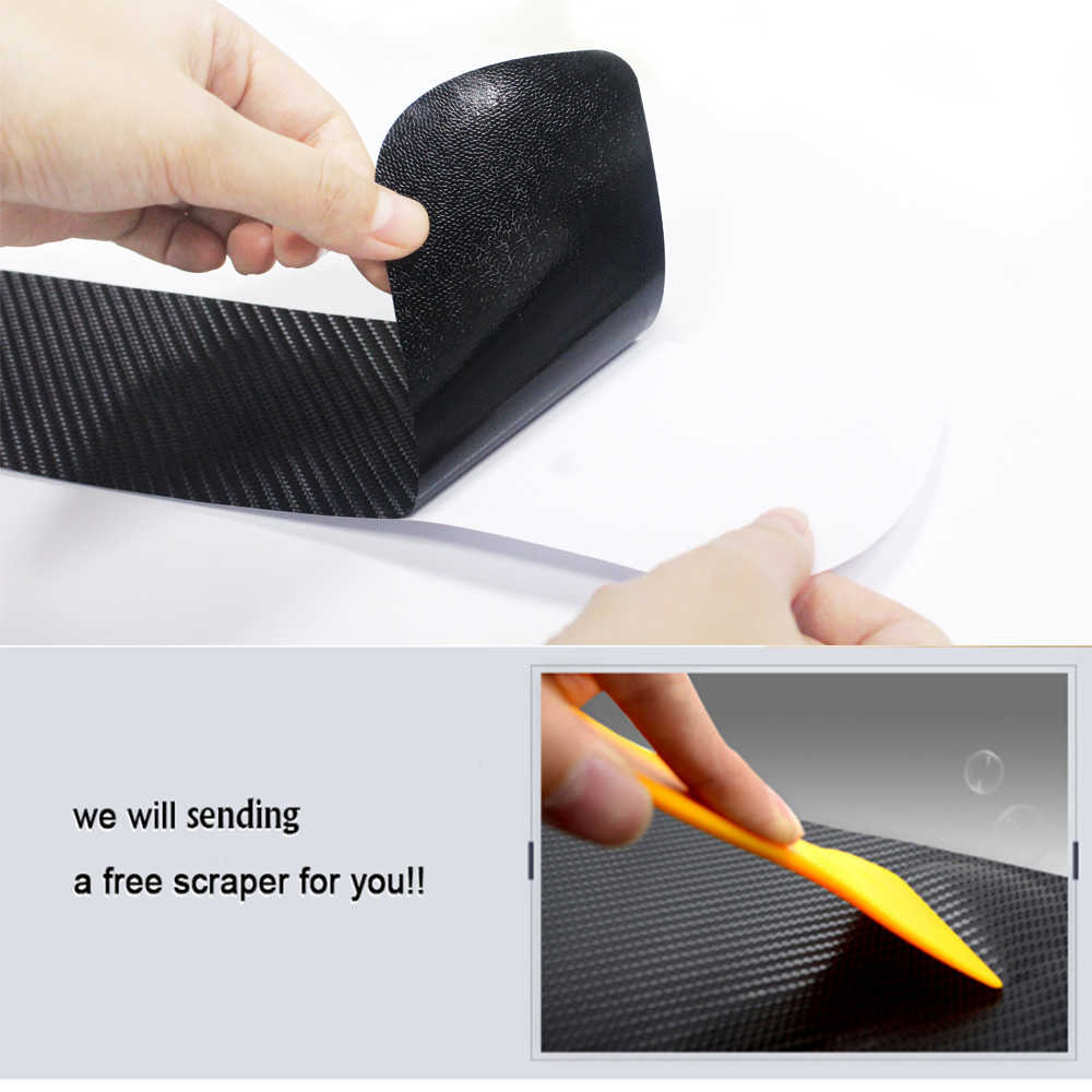 Car styling 4pcs Carbon Fiber Vinyl Sticker Door Sill Wear protection Anti-slip Sticker For Dodge RAM Charger Car Accessories