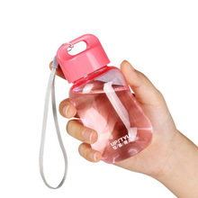 Cartoon mini pupils female cute water bottle plastic cup portable children's rope handle cup(China)