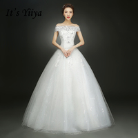 2017 Summer Real Photo Short Sleeves Boat Neck Wedding Dresses Cheap Red White Bride Gowns Custom
