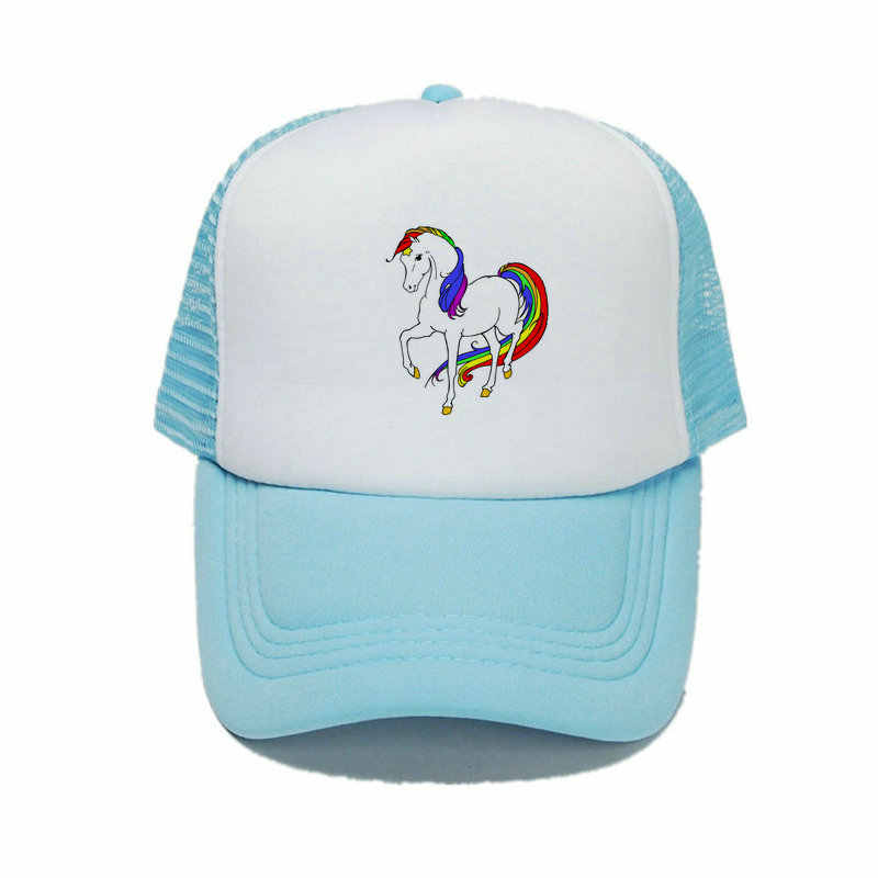 056339826d3 ... Spring Summer Rainbow Unicorn Snapback Caps Multi-color Pony Bucket Hats  For Male Colorful Horn ...