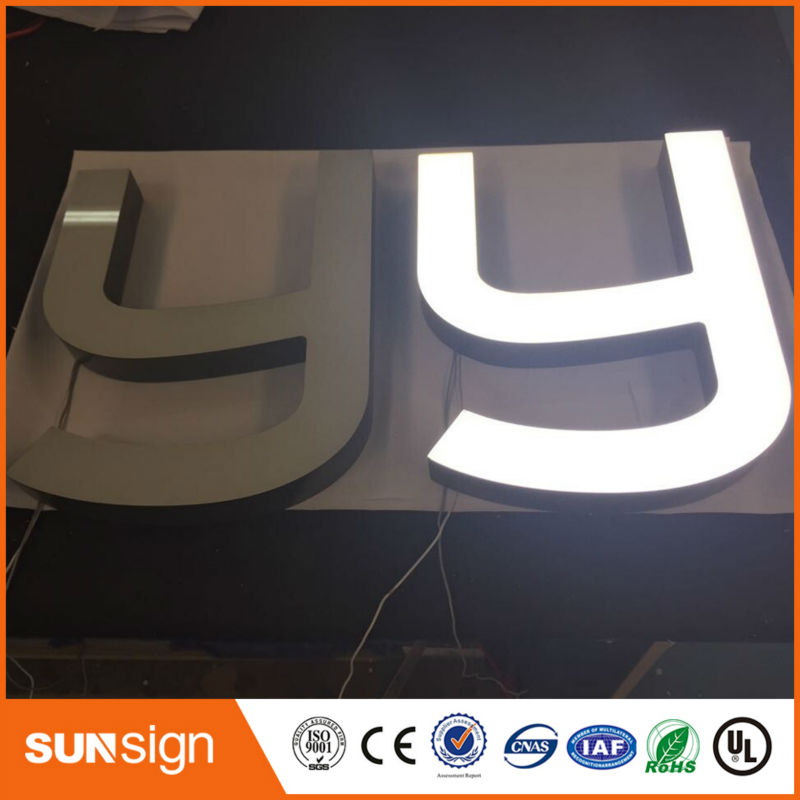 High Brightness Led Frontlit Acrylic Light Words