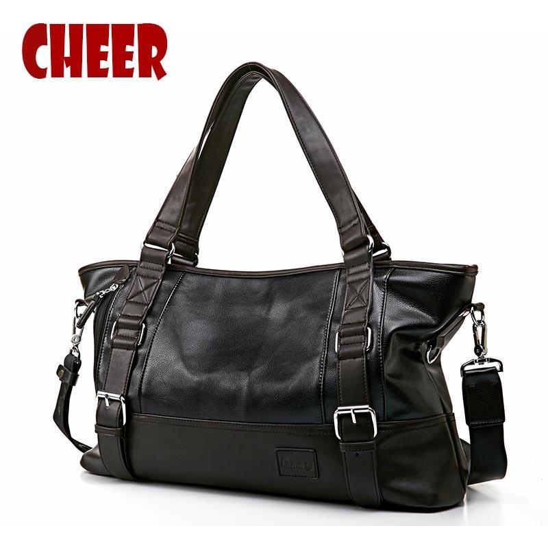 2017 new fashion men bag handbag Shoulder bag Luxury handbag designer messenger bags High capacity PU leather men Travel bag все цены