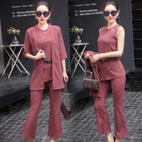Spring Fashion Wide Legged Pants Temperament Of The New Women S Clothing Han Edition Career Three