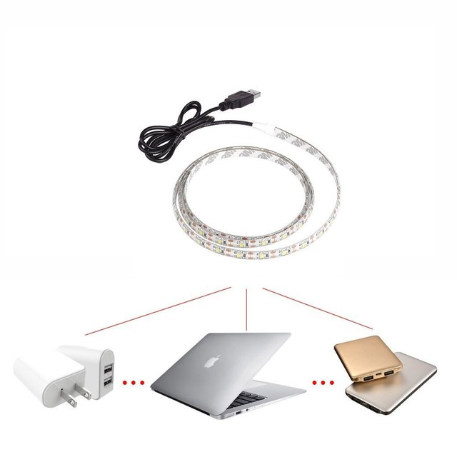 usb cable charger power supply 5v usb led strip 3528 christmas light tv led backlight flexible