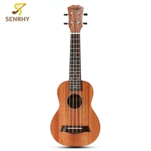 21 inch 4 Strings Rosewood Fingerboard Wood Guitar 15 Frets Classic Mahogany Ukulele Uke Stringed Musical Instruments Music Gift