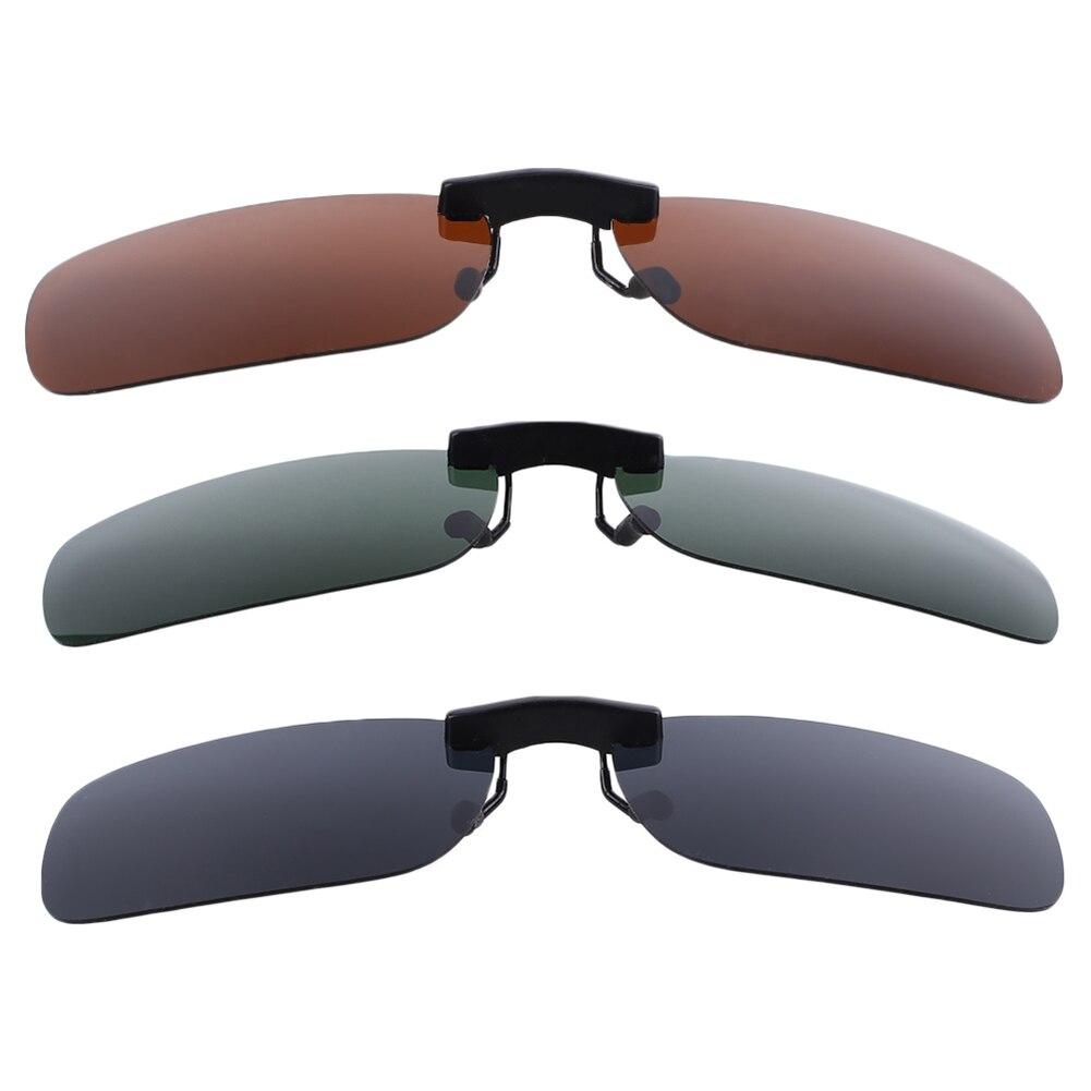 Смола поляризованные солнцезащитные очки из алюминиево-магниевого сплава кожаный чехол из искусственной кожи(солнечные очки с клипсой из UV400 защита для вождения