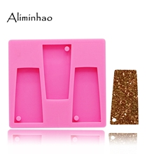 DY0077 shiny water glass shape silicone tumbler mold Keychains  mould for Key chain Pendant clay DIY Resin