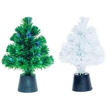 2018 new 30cm mini fiber optic desktop usb charge christmas tree pine ornament for party home decorations