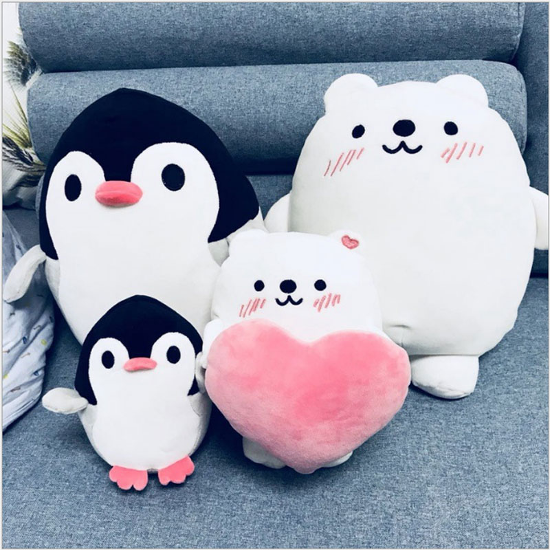 Yunnasi Cute Plush Penguin Pillow Soft Toys For Children
