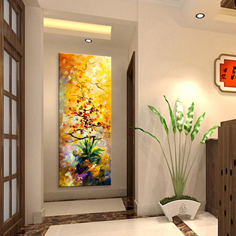 Us 32 5 50 Off Aliexpress Com Buy Painting Hand Painted Abstract Modern Wall Painting Most Beautiful Art Knife Oil Painting On Canvas Home