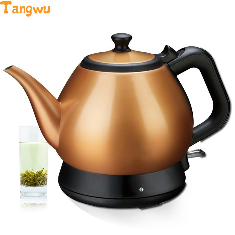 Free shipping All stainless steel long mouth electric teapot small tea pot authentic Electric Kettles 220v 600w 1 2l portable multi cooker mini electric hot pot stainless steel inner electric cooker with steam lattice for students