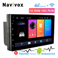 Navivox 2 Din Android Car Radio 7 Universal Car DVD GPS Player Android 9.0 Multimedia Navigation For Nissan Honda Toyota BYD
