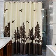 Тайна олень занавеска для душа Водонепроницаемый экологичный душевая занавеска S полиэстер занавеска для ванной отрезать занавес ванны