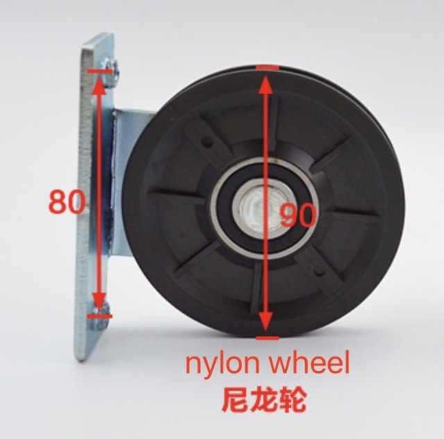 Diameter:90mm  rope nylon wheel pulley Door change gear transmission wheel Elevator accessories