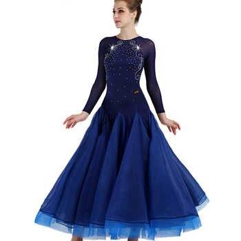 Long sleeve ballroom dance competition dresses customized waltz standard ballroom dress woman girls ballroom dance dresses woman - Category 🛒 Novelty & Special Use