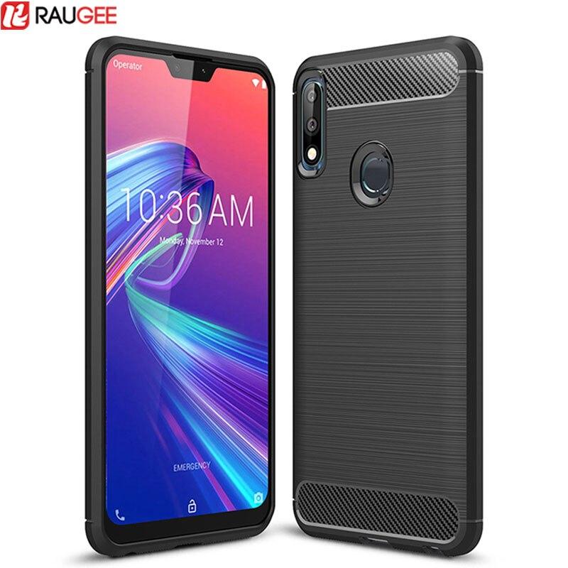 For Asus Zenfone Max Pro M2 ZB631KL ZB633KL Case Carbon Fiber Soft TPU Silicone Phone Case Back Cover For ZB631KL ZB633KL Case