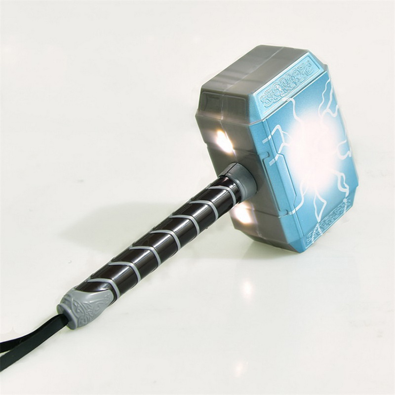 2019 Newest Avengers Alliance LED Glowing And Sounding Thor's Hammer LED Mask Thor Action Figures Cosplay Kids Brinquedos Gift
