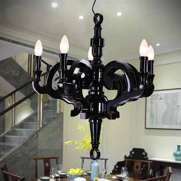 Hanging Lamp Price: Best Price White/Black Modern Wood Chandelier, Dia 55/70