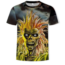 2019 latest design 3D printing T-shirt heavy metal rock band style t-shirt good quality
