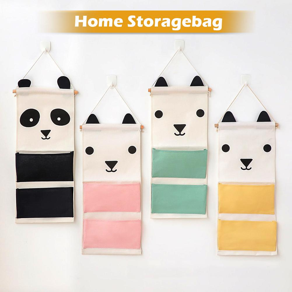 CHUWUJU Wall Hanging Organizer Over door Storage Pockets Hanger Bag Kid Children Bed Closet Wardrobe For Organizer Wall-mounted