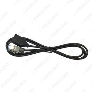 Image 4 - LEEWA 15 יחידות רכב אודיו נקבה USB AUX בכבלים מתאם 4Pin מחבר עבור סובארו פורסטר XV/אאוטבק /Legacy #5662