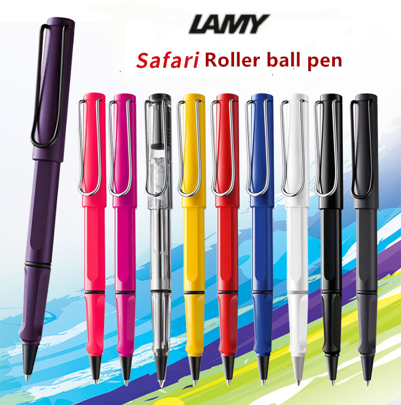 14 Colors Luxury Lamy Safari roller ball Pen with logo stationery school office supplies brand writing gift ball pen for student high quality stationery office school supplies brand pen jinhao x750 black with silver clip roller ball pen for writing