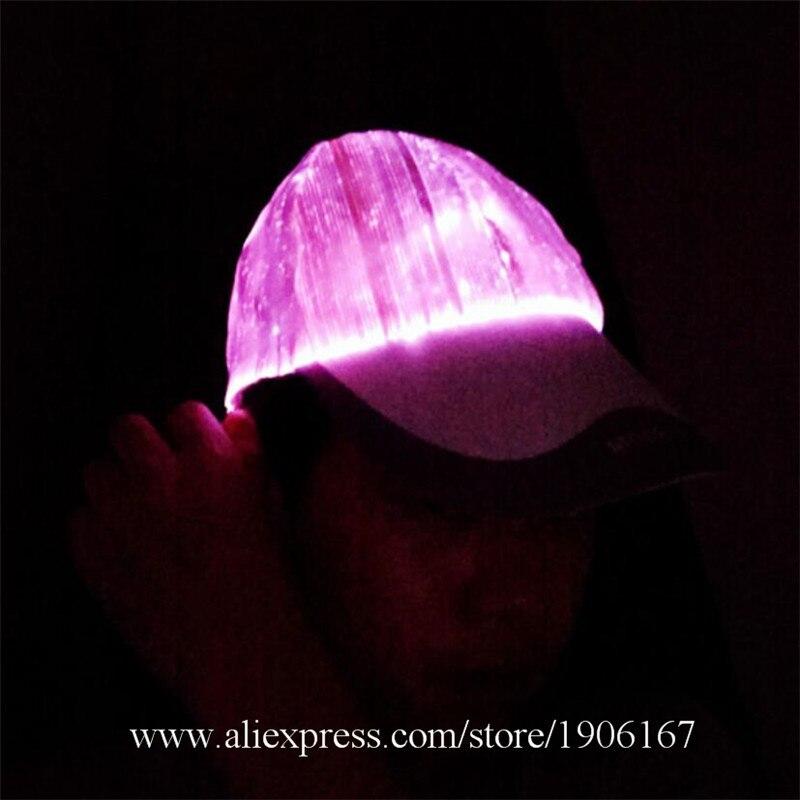New led fiber 7 color light hat Bar music festival Judi night light hat Fashion light hat04